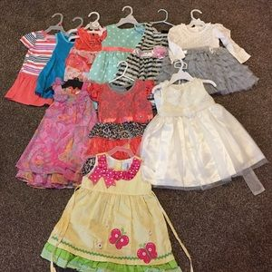 Girls LOT of 10 dresses size 24 months